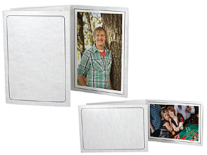 Printed Gray Marble 4x6 Event Photo Folders (25 Pack)