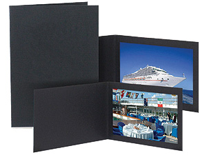 Slip-In Thin Frame Portrait Photo Folders 5x7 Vertical (25 Pack)