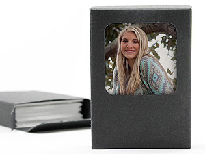 Wallet Print Photo Boxes w/Preview Window (25 Pack)