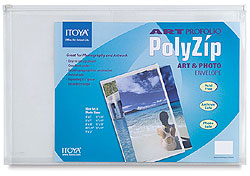 Itoya Art Prof Poly Zip Envelope For 4x9 A-10 (12 Pack)
