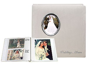 Pioneer WF-5781 Oval Framed Wedding Album