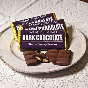 Dark Chocolate Candy Bar with Peanuts