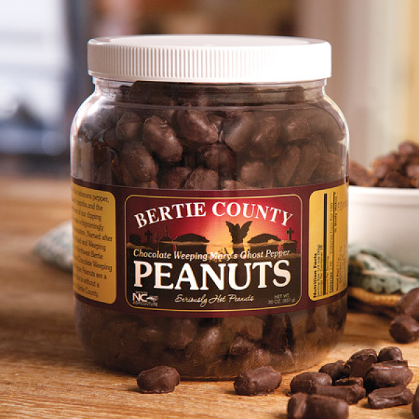 Chocolate Covered Weeping Mary's Ghost Pepper Peanuts