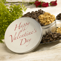 Valentine's Day Tins - Chocolate & Butterscotch Peanuts (25 oz.)
