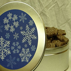 Winter Snowflakes Tin