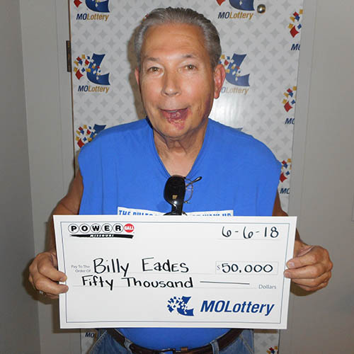 Missouri Lottery Winner Billy Eades