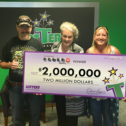 TN Lottery Winners, the Coffmans, and Lottery CEO Rebecca Hargrove