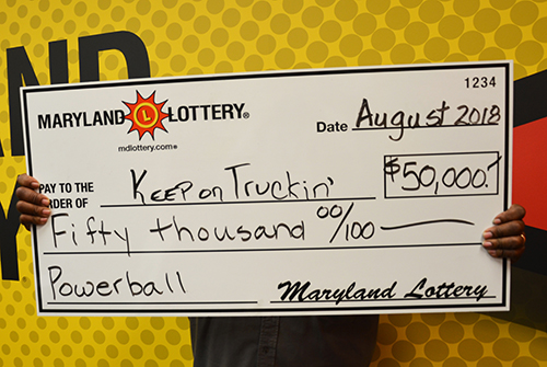 MD Powerball Winner 'Keep on Truckin'