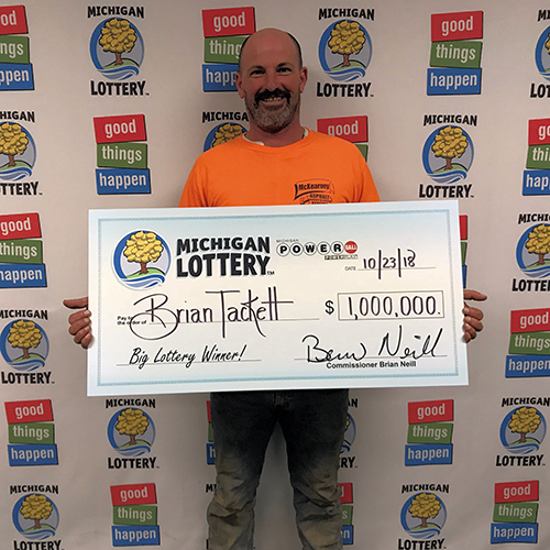 Michigan Lottery Winner Brian Tackett