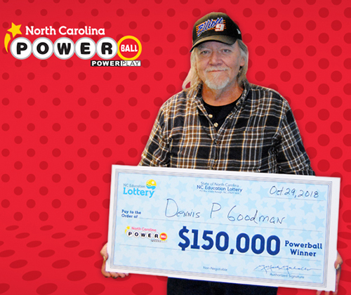 North Carolina Education Lottery Winner Dennis Goodman