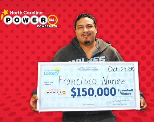 North Carolina Education Lottery Winner Francisco Nunez