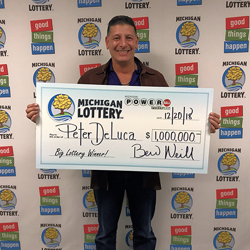 Michigan Lottery Powerball Winner Peter DeLuca
