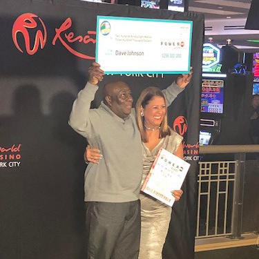 New York Lottery Powerball Jackpot Winner David Johnson