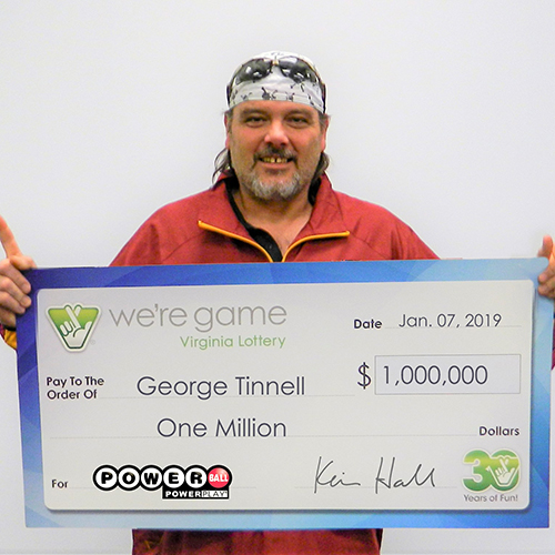 Virginia Lottery Powerball Winner George Tinnell