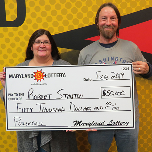 Maryland Lottery Powerball Winner Robert Stanton