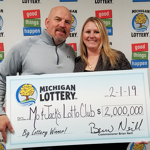 Michigan Lottery Powerball Winners Mo + Jack Lottery Club