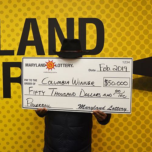 Maryland Lottery Powerball Winner from Columbia