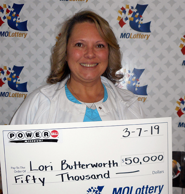 Missouri Lottery Powerball Winner Lori Butterworth