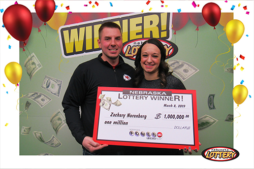 Nebraska Lottery Powerball Winner Zach Norenberg