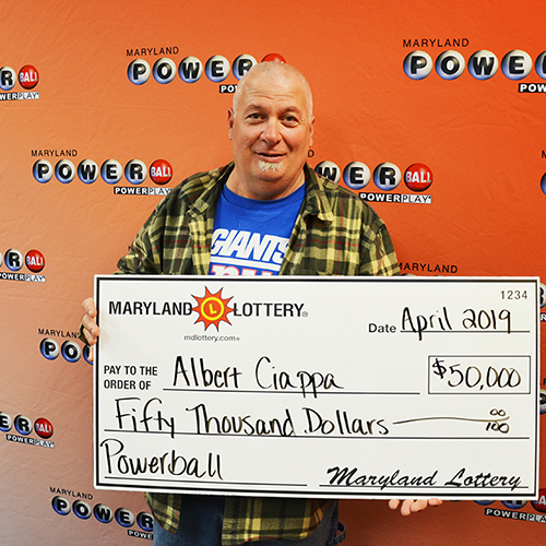 Maryland Lottery Powerball Winner Al Ciappa