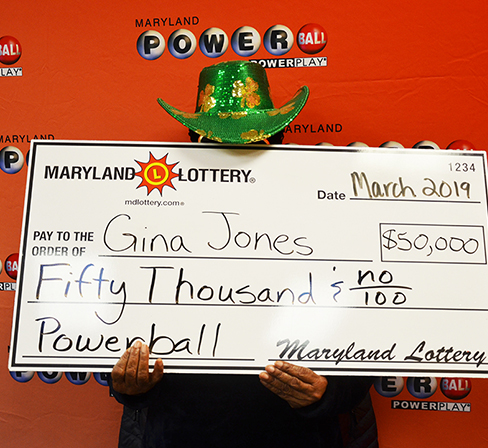 Maryland Lottery Powerball Winner Gina Jones