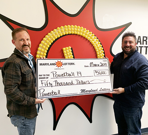 The Powerball 14 office pool won $50,000 from the MD Lottery