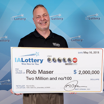 Iowa Lottery Powerball Winner Rob Maser
