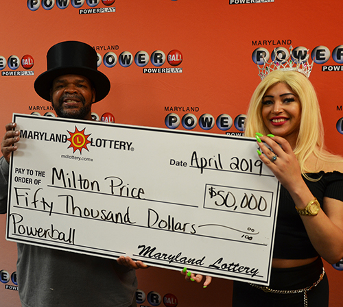 Maryland Lottery Powerball Winner Milton Price