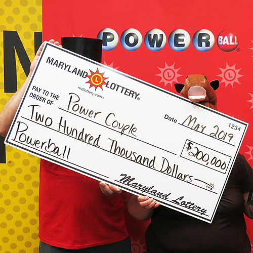 Maryland Lottery Power Couple Win $200,000 Powerball Prize
