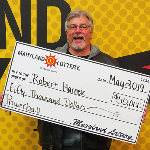 MD Lottery Powerball Winner Robert Harnek
