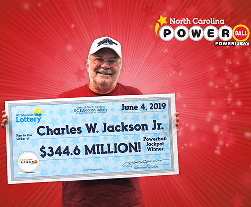 North Carolina Education Lottery Powerball Jackpot Winner Charles Jackson Jr.