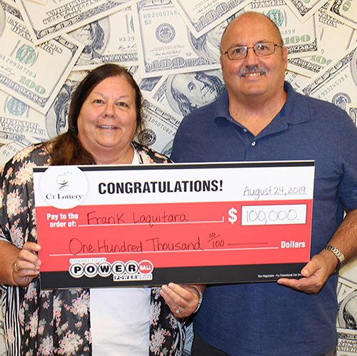 CT Lottery Powerball Winner Frank Laquitara and Debbie Long-Combs