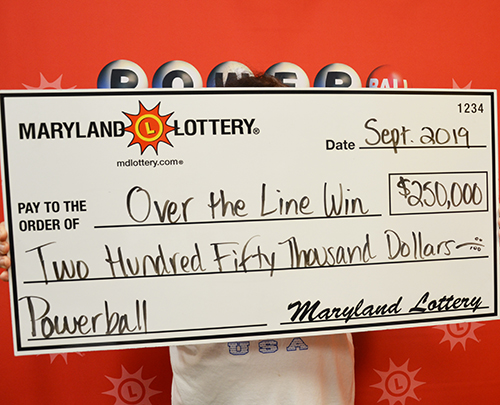 Maryland Lottery Powerball Winner Over the Line Win