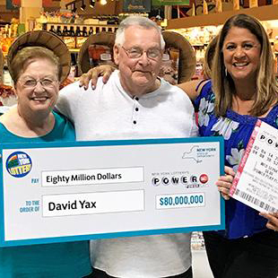 New York Lottery Powerball Jackpot Winner David Yax