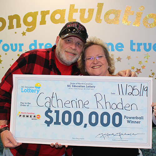North Carolina Education Lottery Winner Catherine Rhoden