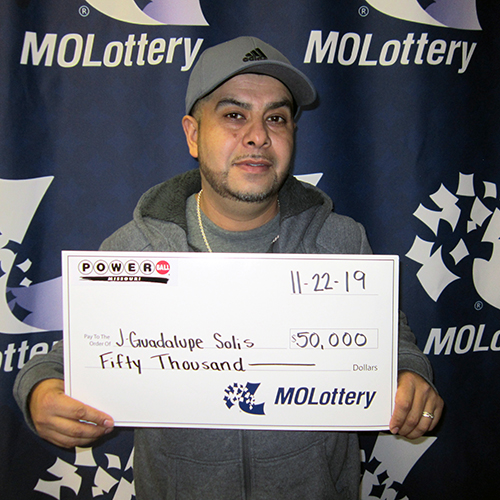 Missouri Lottery Powerball Winner J Guadalupe Solis