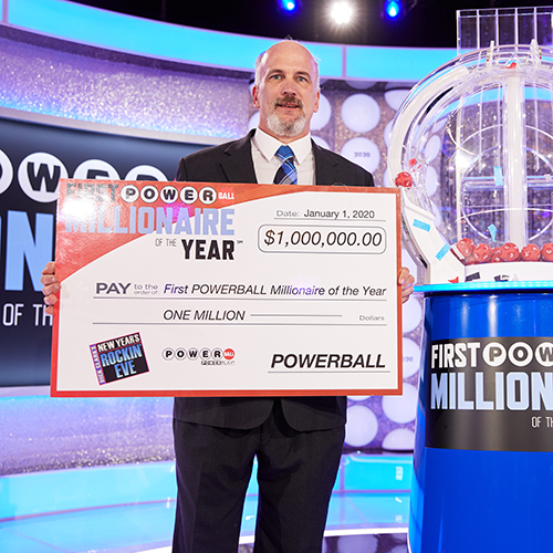 First Powerball Millionaire of the Year Blaine Marston of Maine