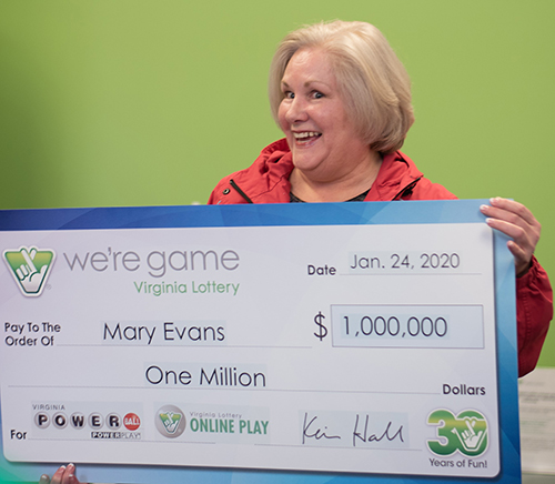 Virginia Lottery Powerball Winner Mary Evans