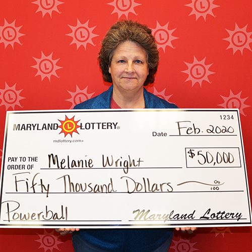 Maryland Lottery Powerball Winner Melanie Wright