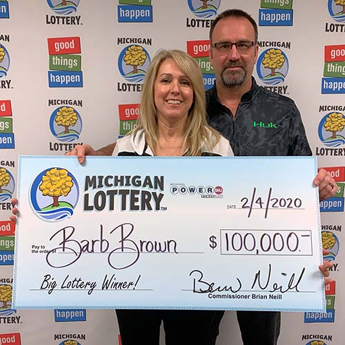 Michigan Lottery Powerball Winner Barb Brown