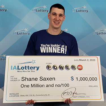 Iowa Lottery Powerball Winner Shane Saxen