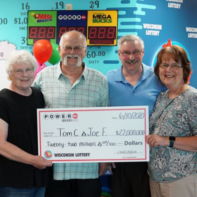 WI Lottery Powerball Jackpot Winners Thomas Cook and Joseph Feeney
