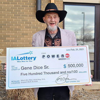 Iowa Lottery Powerball Winner Gene Dice Sr.