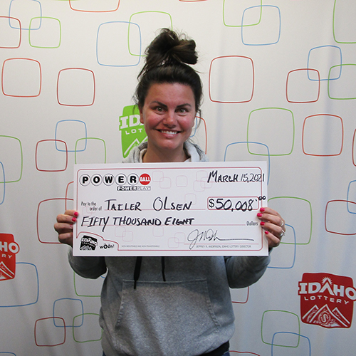 Idaho Lottery Powerball Winner Tailer Olsen