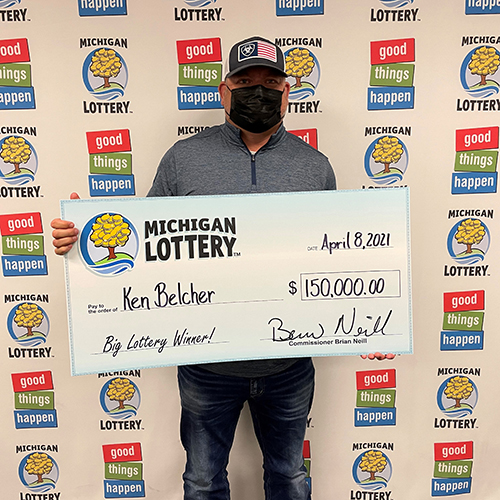 Michigan Lottery Powerball Winner Ken Belcher