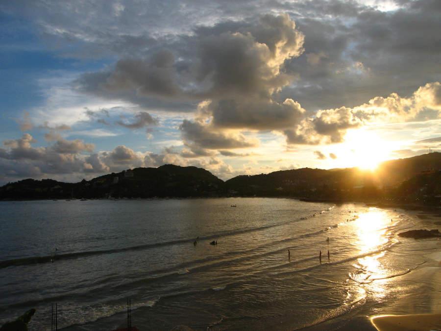 Zihuatanejo es famoso por sus puestas de sol