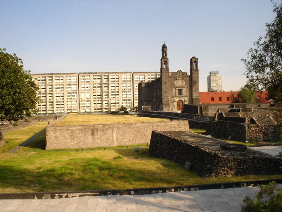 <p>Square of the Three Cultures is an archaeological site in the zone of Tlatelolco</p>