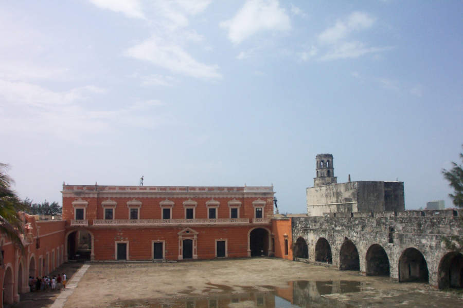 <p>Interior view of the Castle of San Juan de Ulúa in Veracruz</p>