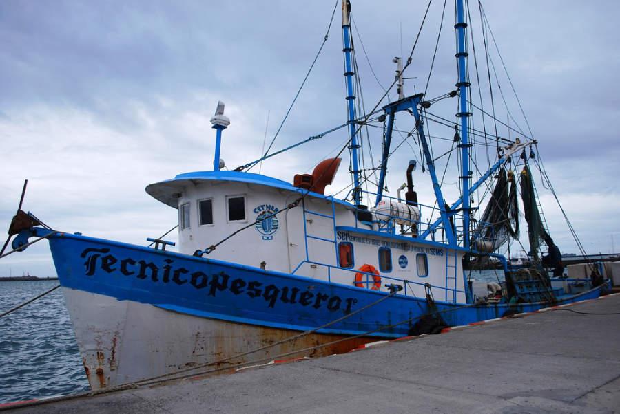 <p>Fishing boat atthe docksof Veracruz</p>