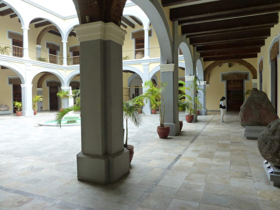 <p>Esplanade of the Museum of the City of Veracruz</p>